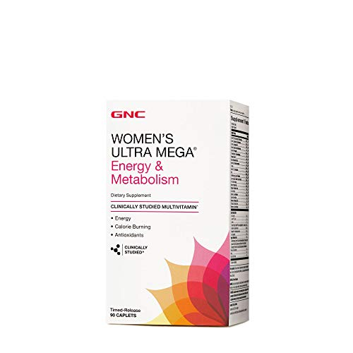 affordable GNC Womens Ultra Mega Energy and Metabolism Multivitamin for Women, 90 Count, for Increased Energy, Metablism, and Calorie Burning