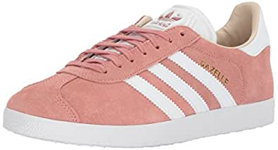 adidas Women's Gazelle Trainers Shoes, Ash Pearl/White/Linen, 5.5 M US
