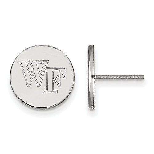 FB Jewels Solid Sterling Silver Logo Art Wake Forest University Small Disc Earrings