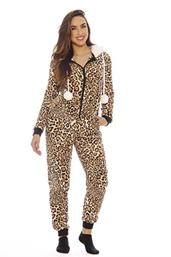 6034-XS Just Love Adult Onesie / Pajamas, X-Small, Leopard -