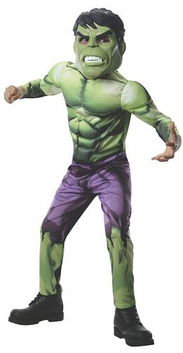 Incredible Hulk Costumes For Men (Rubies Marvel Universe Classic Collection Avengers Assemble Deluxe Incredible Hulk Costume, Child Small)