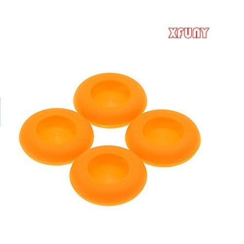 XFUNY(TM) 1Set 4 Pcs Anti-skip Silicone Replacement Key Protector Thumbsticks Grips Cap Cover Analog Joystick Cap Mushroom Caps for PS4/PS3/XBOX one/xbox360 Controller - Cap Rocker