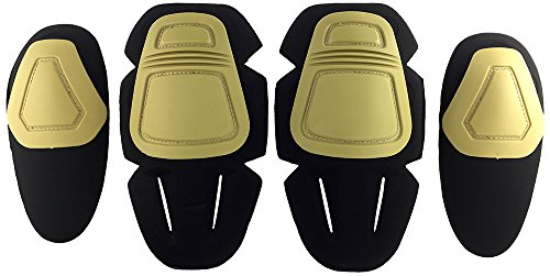 SportPro CM Protective Combat Knee and Elbow Pads Pack for G3 Pants - Dark Earth (Pads Inserts Knee Emerson)