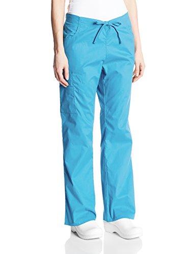 Signature Drawstring Pants - Dickies Women's EDS Signature Mid Rise Drawstring Cargo Pant, Turquoise, X-Large