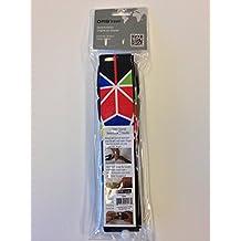 """ORB Travel Premium Designer Luggage Strap 2""""x72""""-LS241-Black/Multi-Colour-CANADA 150"""