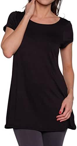 Free to Live Women's Long Flowy Short Sleeve or Sleeveless Tunic Made in USA