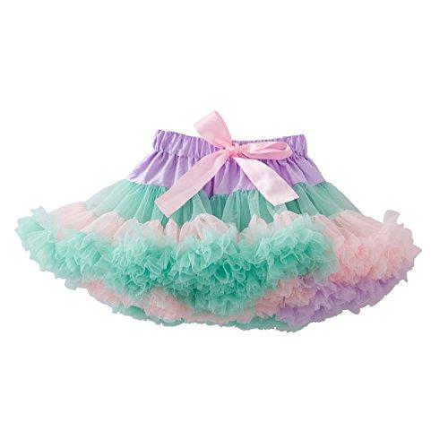 kephy Girls Pettiskirts Children Tutu Kids Tulle Skirts Baby Birthday Ruffle Skirt Rainbow Dress