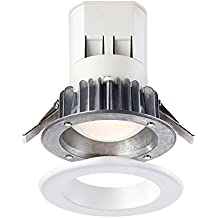 Designers Fountain EV407941WH27 Modern Easy Up 4 inch 2700K Warm White 91 CRI Integrated Led Recessed Light with J-Box (No Can Needed)