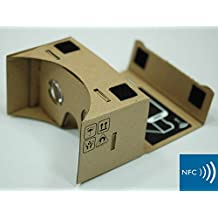 GOOGLE CARDBOARD® 45mm Focal Length Virtual Reality Google Cardboard with Printed Instructions and Easy to Follow Numbered Tabs (WITH NFC) (Box Color)