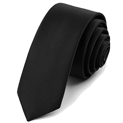 Dress Ties For Men, Mens Woven Polyester Necktie Black