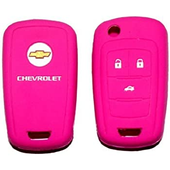 amazon com chevrolet pink silicone protecting key case cover fob
