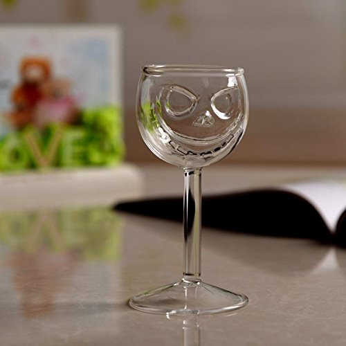 BigFamily Crystal Skull Goblet Halloween Dining Kitchen Drink Creative Ghost Wine Glass Cup Party Bar -