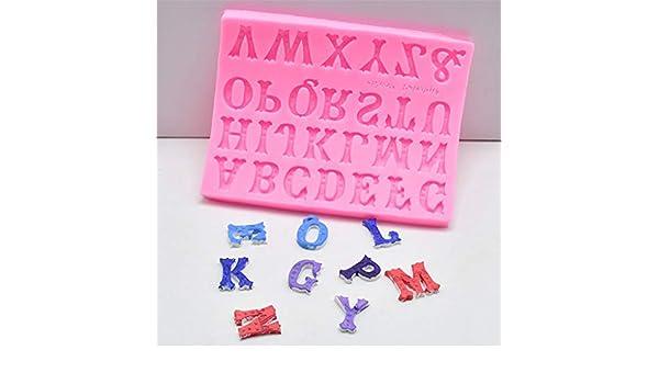 Euone Molde de Silicona para Fondant diseño de Letra ABC ...