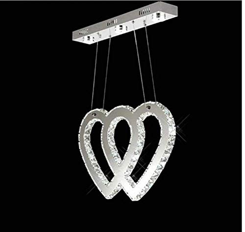Ceiling Lights Lamps Chandeliers Pendant Light Fixtures Crystal Chandeliers Heart Shape Chandelier Love Hanging Lamp Modern Contemporary Fashion Restaurant Light Stainless Steel Lamp Body Chandelier