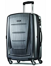 Samsonite Luggage Winfield 2 Fashion 24-Inch Expandable Spinner, Checked Medium, Charcoal