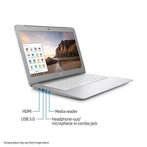 2017 Premium High Performance HP 14 inch Chromebook Full HD (1920 x1080) IPS display,Intel Celeron Quad-Core Processor,4GB RAM,16GB eMMC HDD,802.11AC WIFI HDMI Webcam Bluetooth Chrome OS, only 3.74Lb by HP (Image #2)