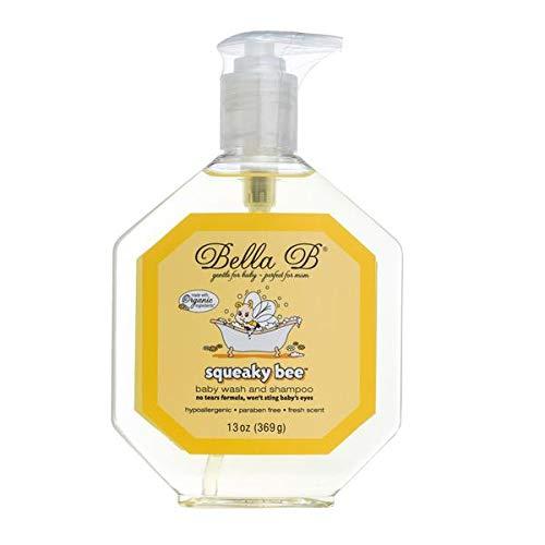 Bella B Squeaky Bee Body Wash And Shampoo 13 oz - Cradle Cap Shampoo For Babies - Baby Shampoo And Body Wash - Baby Shampoo For Cradle Cap - Baby Cradle Cap Shampoo - Baby Shampoo Cradle Cap