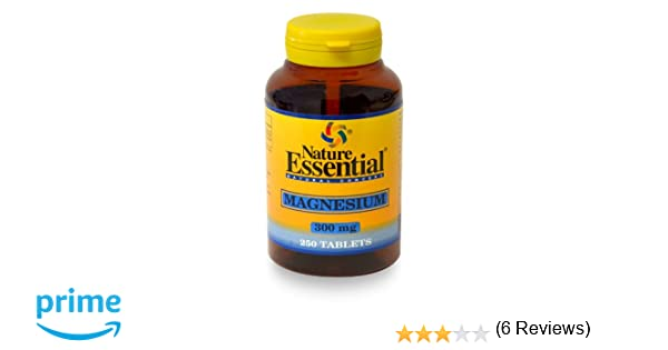 Magnesio 300MG 250 Tabletas. Nature Essential.: Amazon.es: Salud y cuidado personal