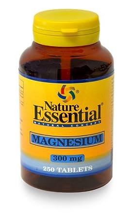 Magnesio 300MG 250 Tabletas. Nature Essential.: Amazon.es: Salud y cuidado personal