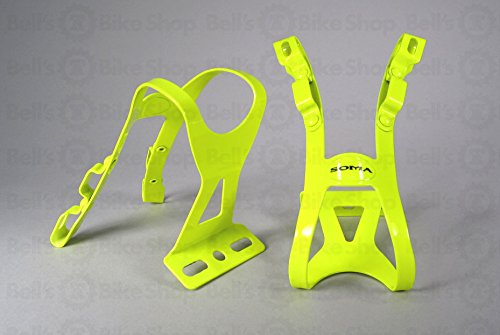 Soma Oppy XX 2-Strap Toe Clips Neon Yellow S/M Pair Track Fixed Road Bike