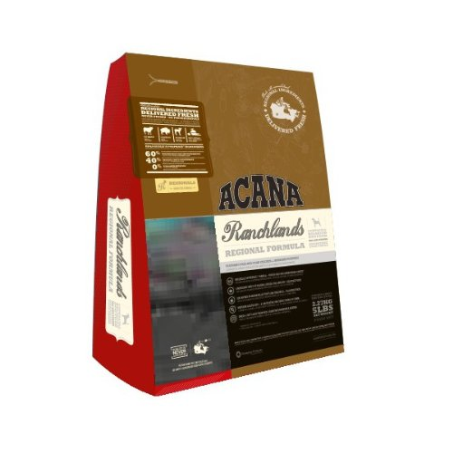 Acana Ranchlands All Life Stages Dry Dog Food Beef - GrainFree 28.6lb by ACANA