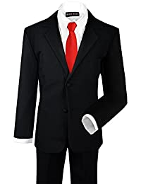 Black N Bianco 4PC Toddler Boys Two-Button Suit