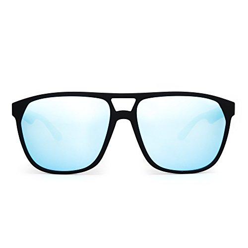 Superior Azul de Mate Sol Gafas Anteojos Peso de Aviador Polarizado Polarizadas Espejo Negro Hombre Mujer Plano Ligero w4ZXCgHxqZ