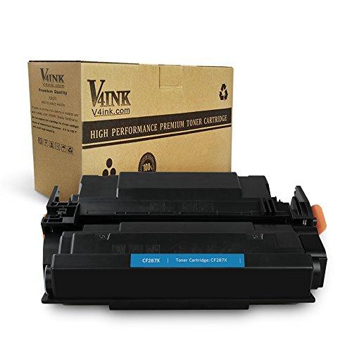 V4INK Compatible Toner Cartridge Replacement for HP CF287X 87X CF287A 87A (Black, 1-Pack) for use in HP Laserjet Pro M501dn M501n MFP M527Dn M527Z, HP Laserjet Enterprise M506dn M506N M506X M506
