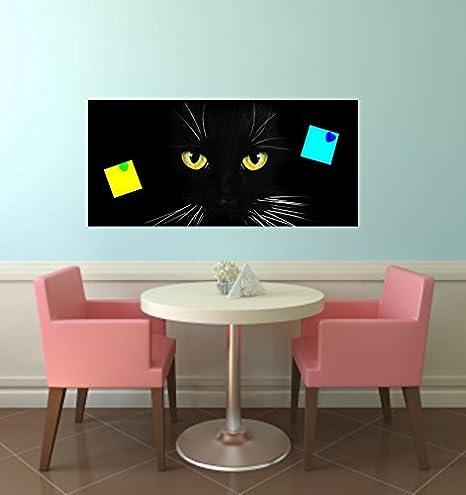 Tableau Magnetique Autocollants Chat Noir Pour Ikea Spontan