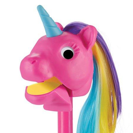Rainbow Prancers Puppet-on-a-Stick, Pink Unicorn Photo #2