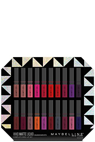 Maybelline Limited Edition Vivid Matte Liquid Complete Mini Lip Set (0.10 fl oz / 3 ml x 20)
