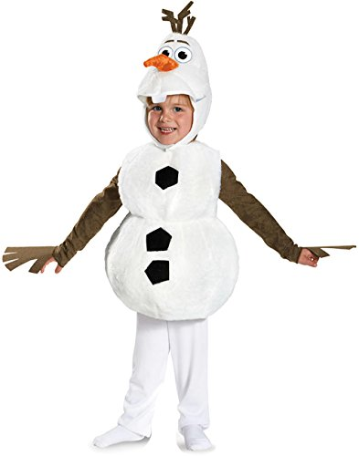 Disney Frozen Olaf Deluxe Toddler or Child Costume - Snowman - 3 sizes