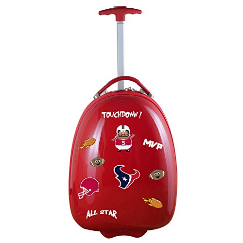 Denco NFL Houston Texans Kids Lil' Adventurer Luggage Pod, 18-inches, Red from Denco