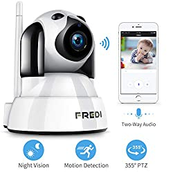 Fredi Baby Monitor Pet Camera Wireless Security Camera With Night Vision Two Way Audio Ptz Motion Detection 2 4g Wifi Ip Camera Indoor Surveillance Camera For Nanny Pet Dog Camera With Phone App