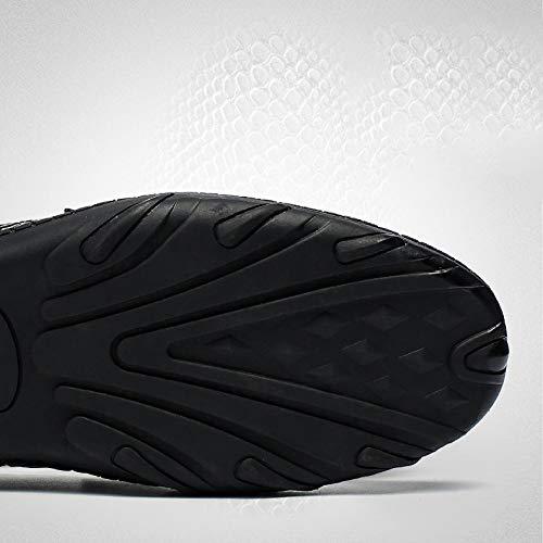 Otoño Los Hombres Nuevos Del Coreanos Yxlong Ocasionales De Brown Guisantes Zapatos Cuero 8SXwx1q