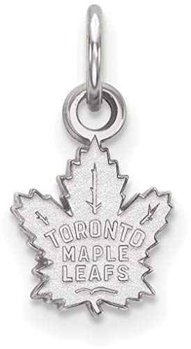 Sterling Silver NHL Toronto Maple Leafs X-Small Pendant by LogoArt