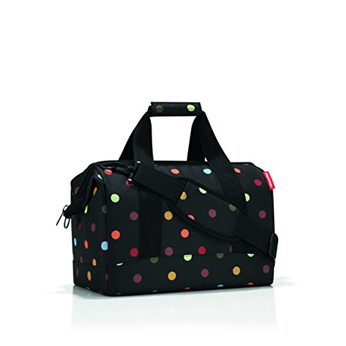 reisenthel Allrounder M, Travelling, Doctors and Sports Bag, Black with Dots, MS7009