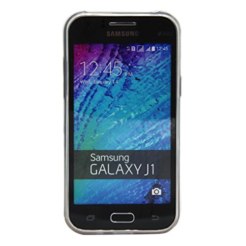 For Galaxy J1 , PpIiNnKk White Clear Dandelion Rilievo Semi transparent Style [Ultra Thin] Durable Soft Silicone TPU Protective Back Cover Case for Samsung Galaxy J1 SM-J100F 4G