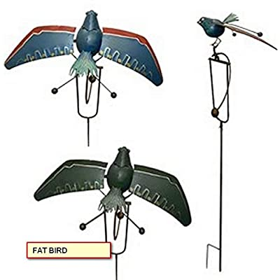 Metal Balancing Bird Garden Yard Art (Fat Bird) : Garden & Outdoor