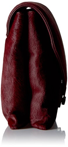 RANDALL Evening Bag LOEFFLER Maroon Haircalf Lock 7zfwO