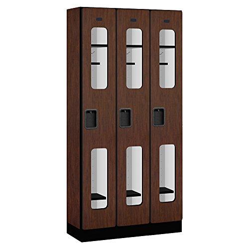 Single Tier Designer Locker (Salsbury Industries Single Tier See Through Designer Wood Locker, Mahogany, 6' 3