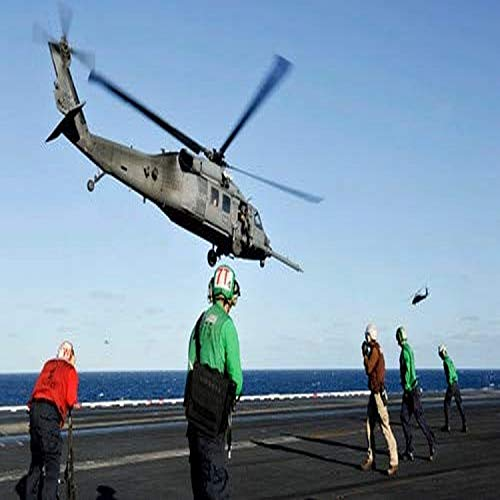 A US Air Force HH-60G Pave Hawk helicopter lifts off from USS Nimitz Poster Print by Stocktrek Images (17 x 11)