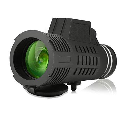 SGODDE Port/átil HD Spotting Scopes Telescopio /Óptico Prism-con Correa de Mano Monocular Telescopio 10x52 HD Observaci/ón de la Faun Tr/ípode y Adaptadores de Tel/éfono Celular Universal para la Observaci/ón de Aves