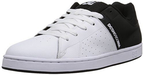 DC Men's Wage Skate Shoe, Black/White, 6.5 M US