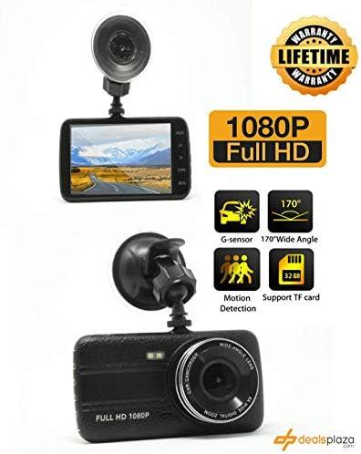 4.5 1080P Dual Lens Car Dashboard DVR Camera Video Recorder G-Sensor Dash Cam