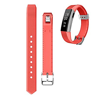 ArrKn Smart Fitness Tracker Accessories for Fitbit Alta Replacement Wristband / Fitbit Alta band / Fitbit Alta Bracelets / Wrist Strap (2 Pack - Red / Blue)