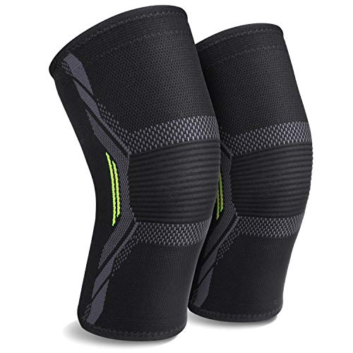 2 Pack Knee Brace Knee Sleeves Knee Support for Women or Men for Running Plus Size MUBYTREE