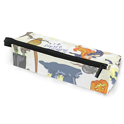 Glasses Case Halloween Witches Multi-Function Zippered Pencil Box Makeup Cosmetic Bag for -