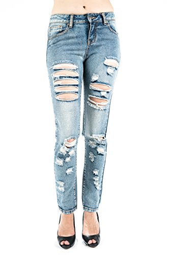 rips and tear boyfriend jean all over holes girls new