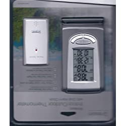 Oregon Scientific Wireless Indoor/Outdoor Thermometer W/ Dual Alarm Clock